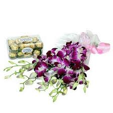 10 orchids 16 ferrero rocher chocolates