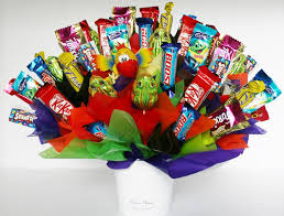100 chocolates in a bouquet