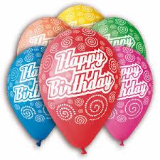 25 Helium Gas Happy Birthday Balloons