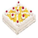 Eggless cake 1 kg Pineapple