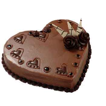 Heart Shaped Chocolate Cake 1kg