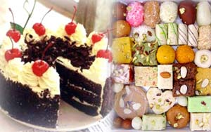 Black forest cake+ 1/2 kg mix mithai