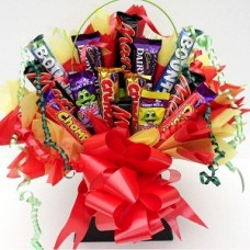 20 Mix chocolates in a bouquet