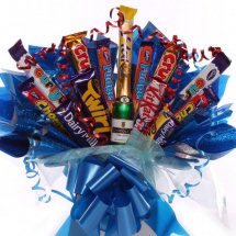 25 Mix chocolates in a bouquet blue packing