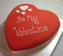 1 Kg Heart shaped black forest Cake Icing Be My Valentine