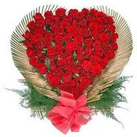 Heart with 100 roses